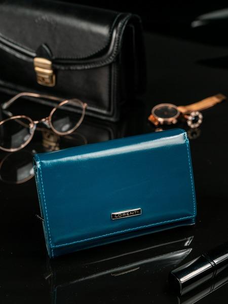 Moderní tmavě modrá kožená peněženka Clay