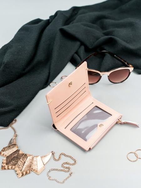 Malá šikovná dámská peněženka Rita, růžová