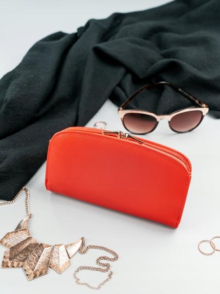 Matná dámská peněženka Milano, světle červená