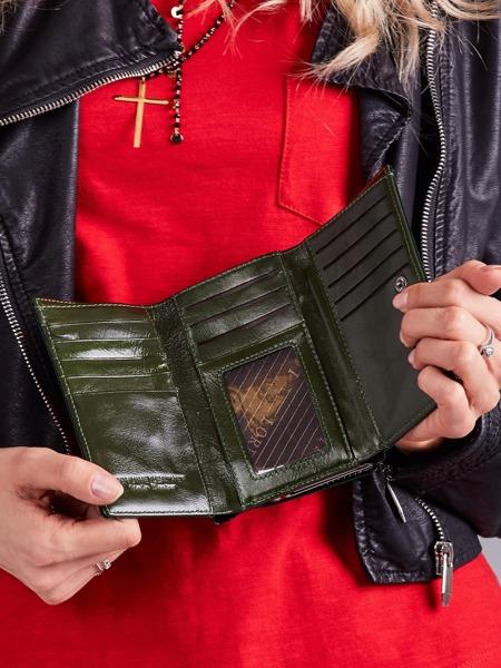Lesklá dámská peněženka Giulia, zelená