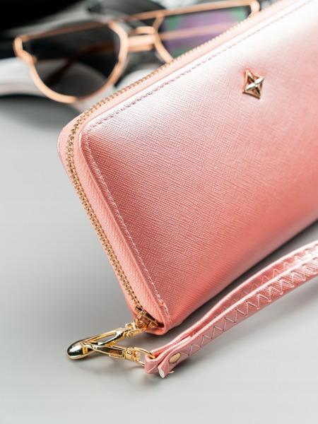 Dámská růžová peněženka na zip