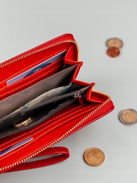 Dámská červená peněženka na zip
