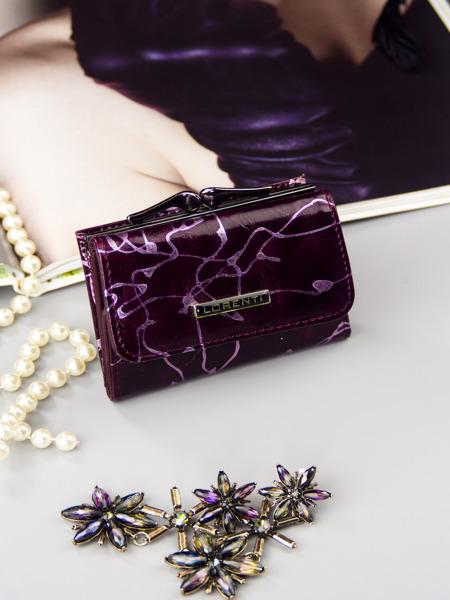 Malinká fialová kožená peněženka Tona