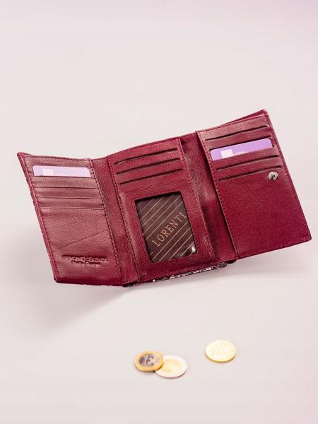 Fialová moderní kožená peněženka Clea