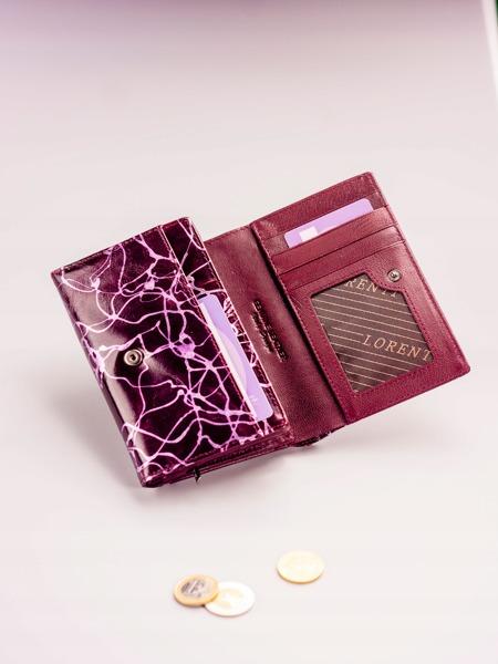 Moderní fialová kožená peněženka Sia