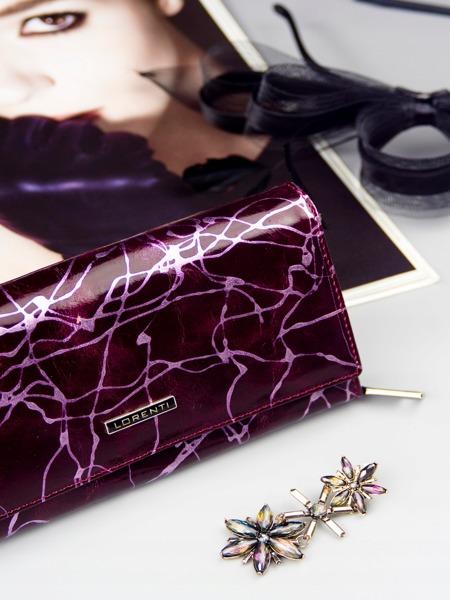 Prostorná fialová peněženka z kůže Tora