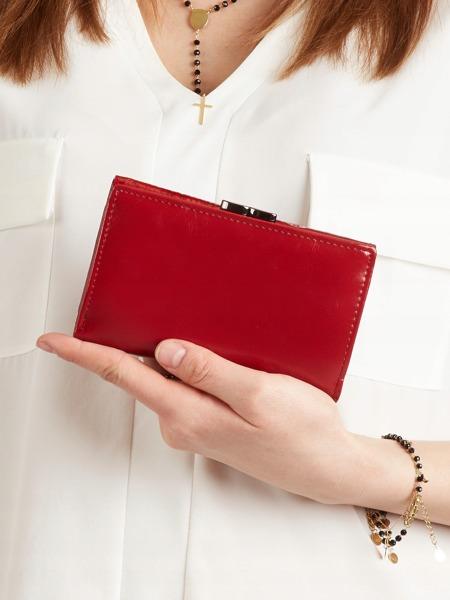 Dámská lakovaná kožená peněženka Tera, červená