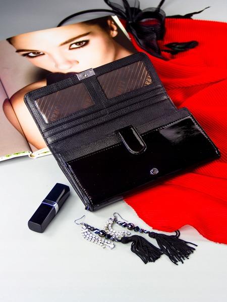 Lesklá dámská peněženka Rubí, černá
