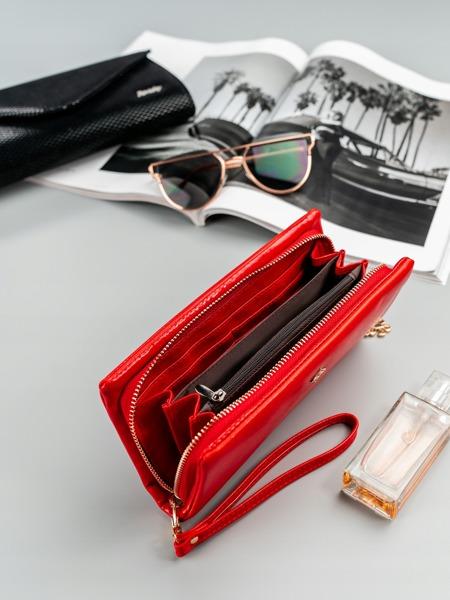 Designová peněženka Jenny, světle červená