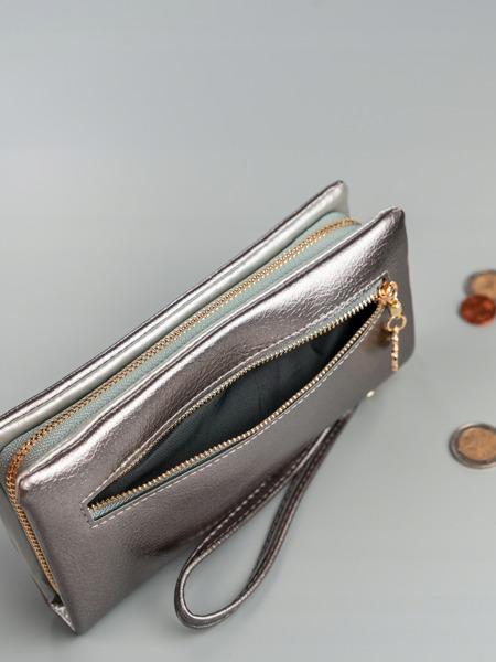 Designová peněženka Jenny, stříbrná