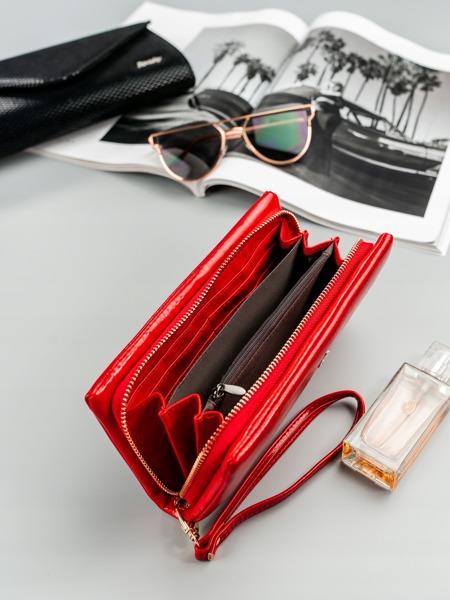 Designová peněženka Jenny, červená