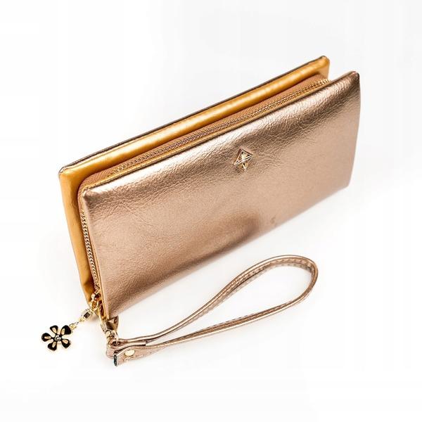 Designová peněženka Jenny, zlatá