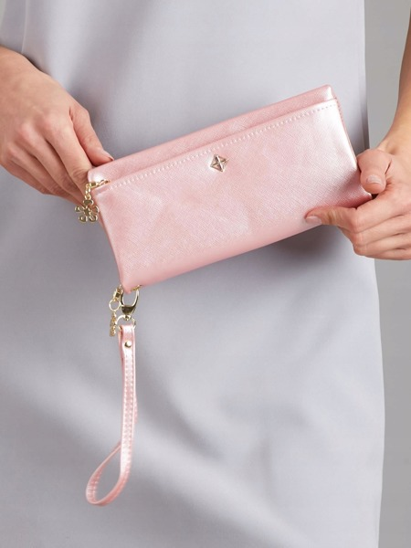 Větší praktická dámská peněženka Milano, růžová