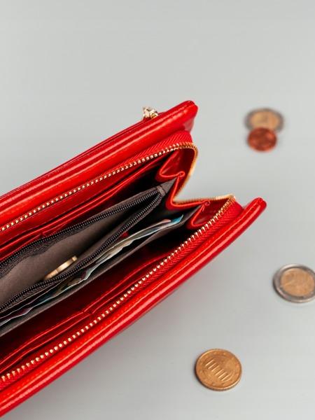 Větší praktická dámská peněženka Milano, červená