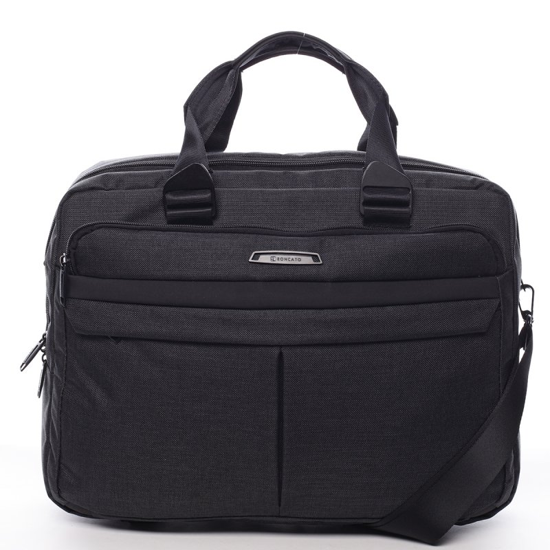 Pánská pracovní taška na notebook Emanuel černá