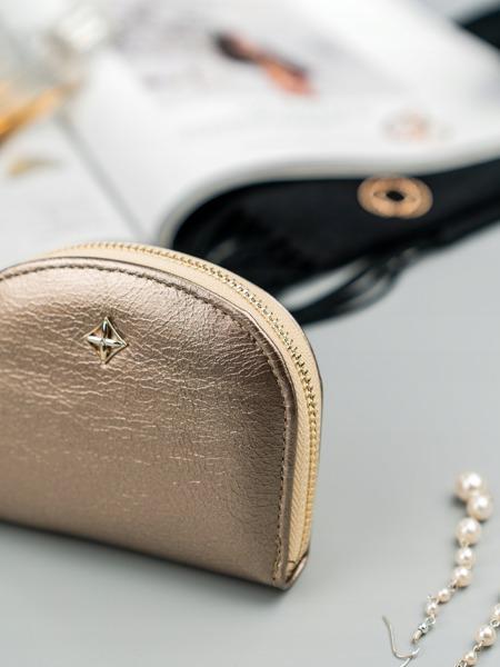 Malá dámská peněženka na doklady Jily, zlatá