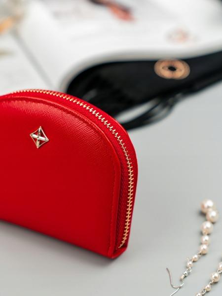 Malá dámská peněženka na doklady Jily, světle červená