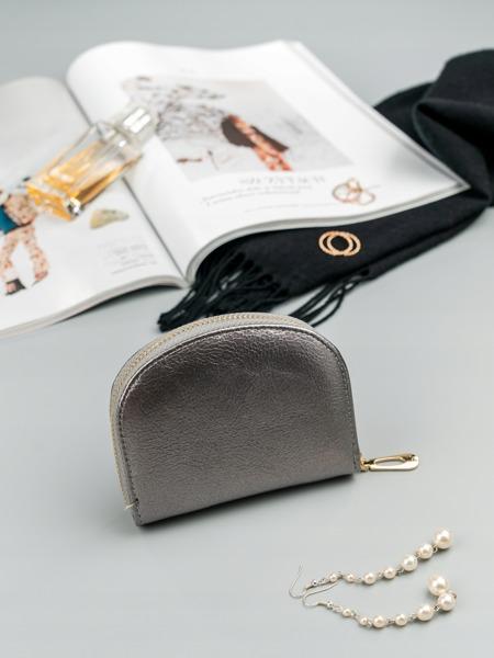 Malá dámská peněženka na doklady Jily, stříbrná