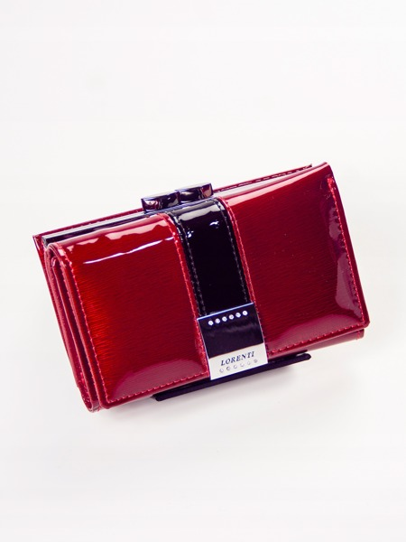 Exkluzivní dámská lakovaná peněženka Lila, červená