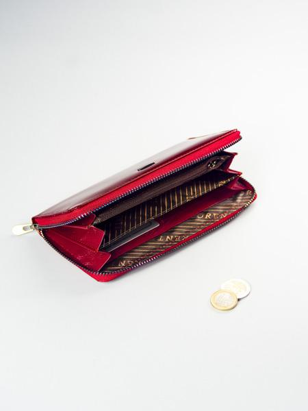 Exkluzivní dámská peněženka z kůže Elia, červená