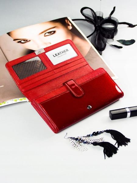 Lesklá dámská peněženka Rubí, červená