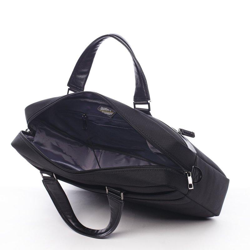 Stylová pracovní pánská taška Aguiles Ciak Roncato černá