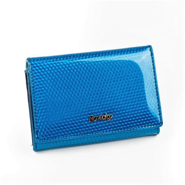 Malá moderní kožená peněženka Devon, modrá