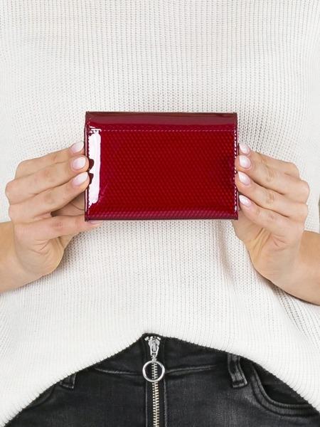 Malá moderní kožená peněženka Devon, červená