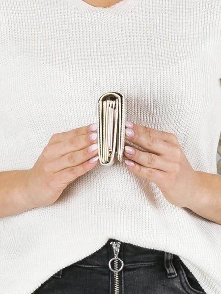 Malá moderní kožená peněženka Devon, béžová