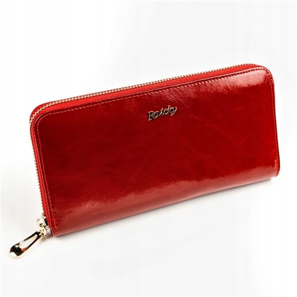 Kožená peněženka z jemné kůže Pam, červená