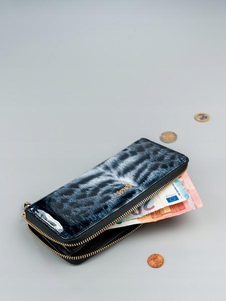 Luxusní dámská peněženka se zvířecím vzorem, černá