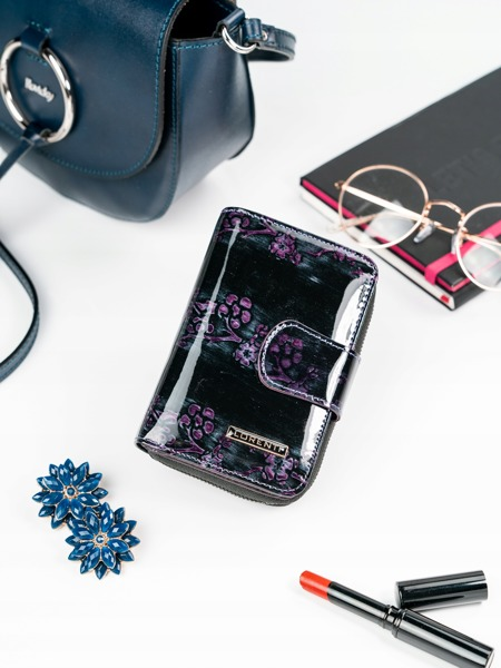Lesklá elegantní peněženka Rea, fialová
