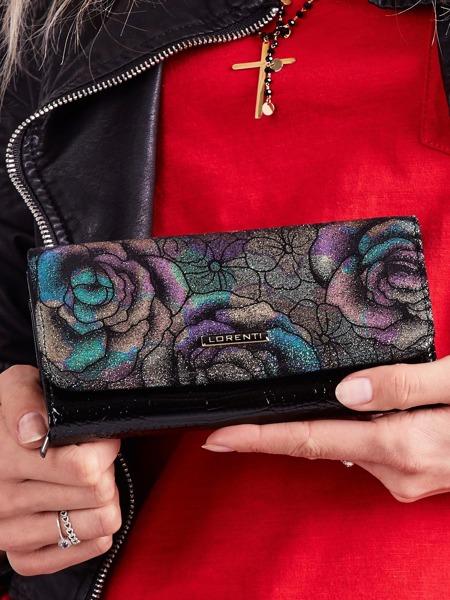 Kožená střední dámská třpytivá peněženka Lola, zelená