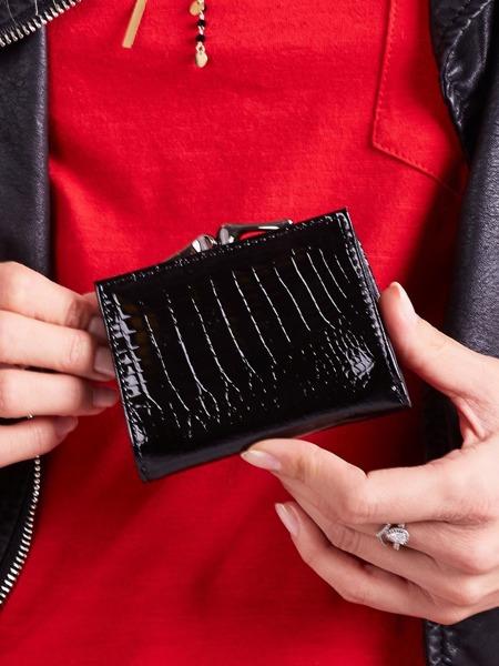 Malinká třpytivá kožená dámská peněženka Chloe, zelená