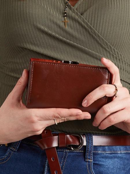 Originální kožená peněženka Clara, hnědá