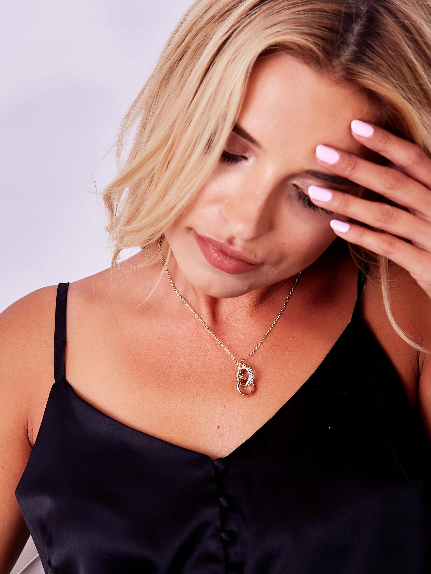 Dámský náhrdelník Prstýnky lásky, zlatý