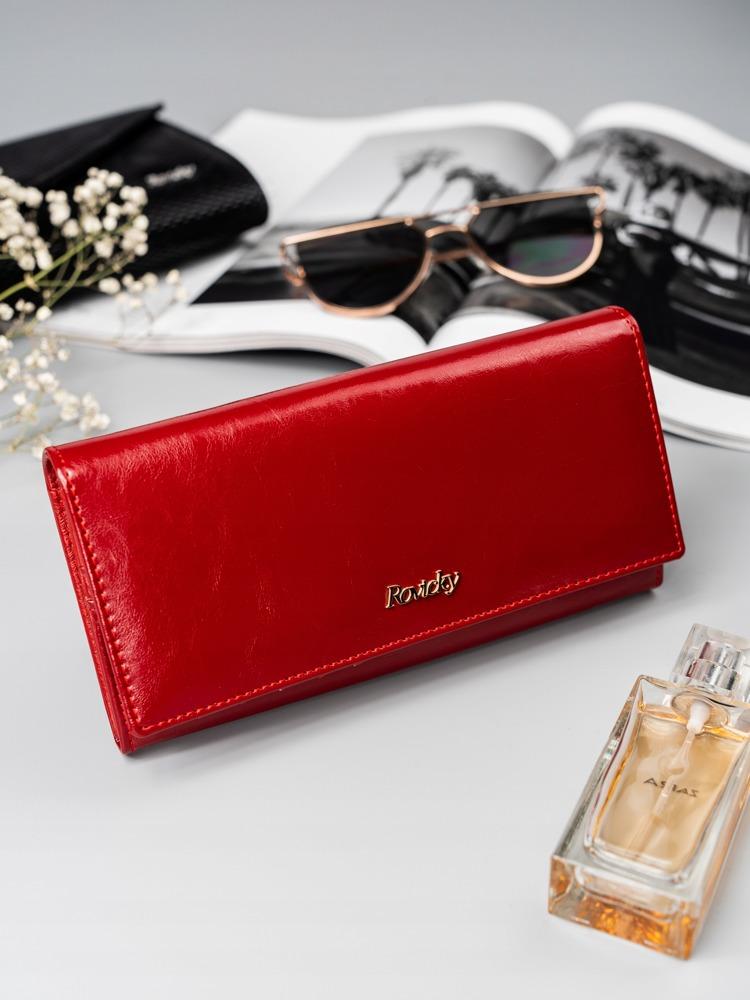 Jemná kožená dámská peněženka Adel, červená