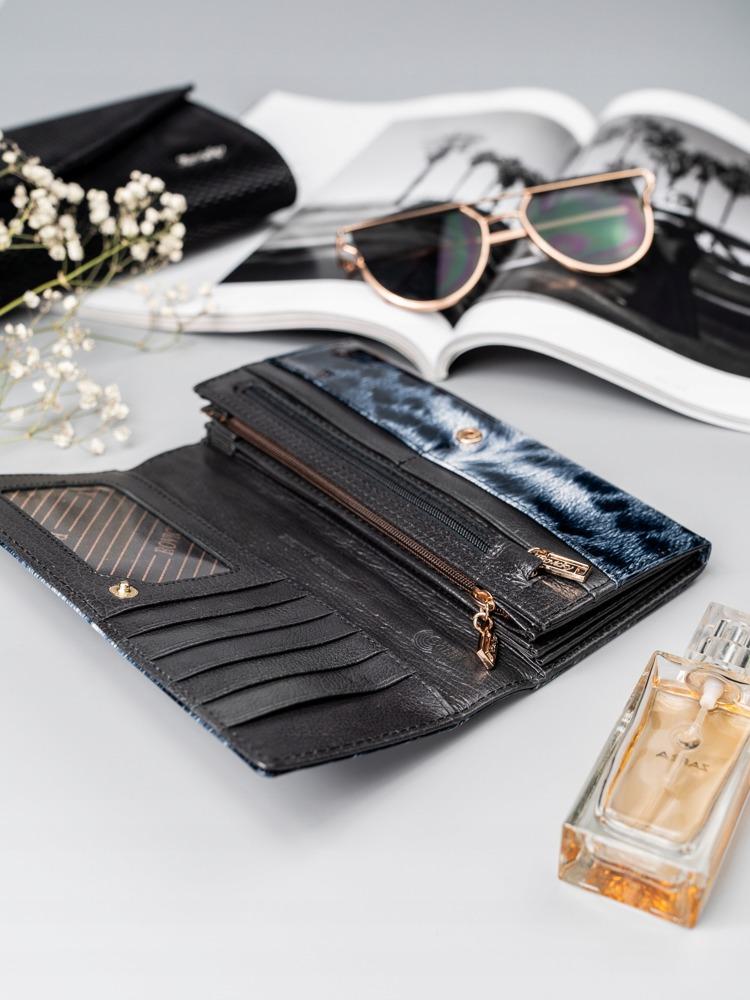 Kožená luxusní dámská peněženka Jule, černá