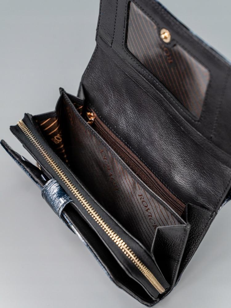 Černá kožená dámská peněženka Abriana