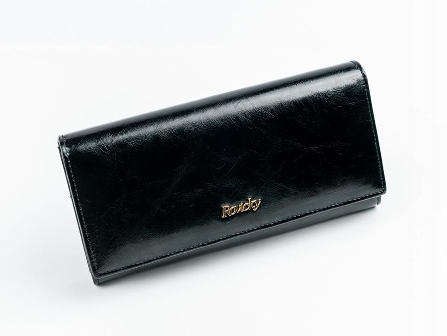 Dámská jemná peněženka z kůže Rafaela černá