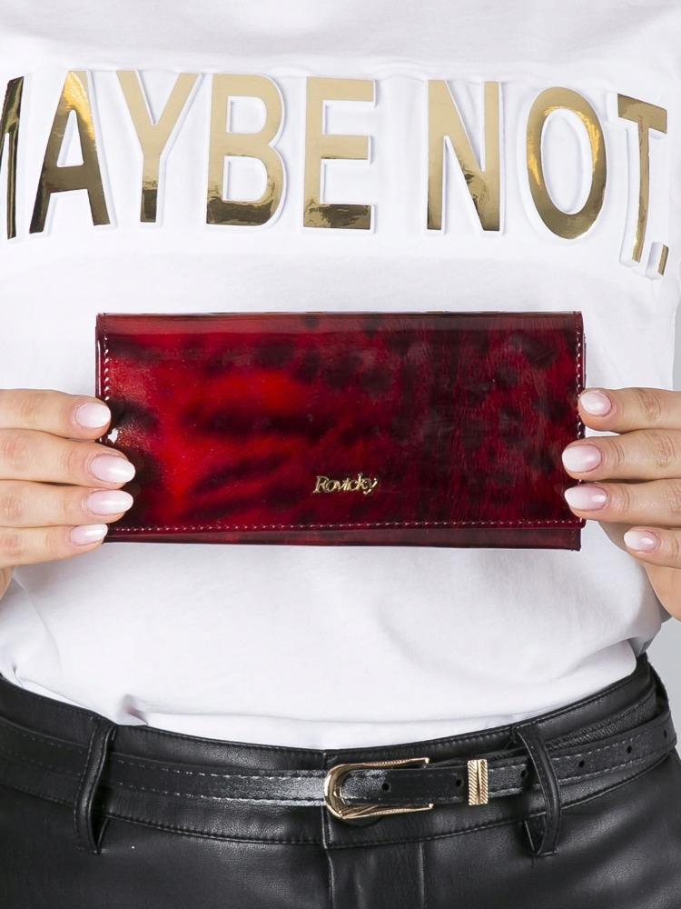 Impozantní kožená dámská peněženka Felicita červená