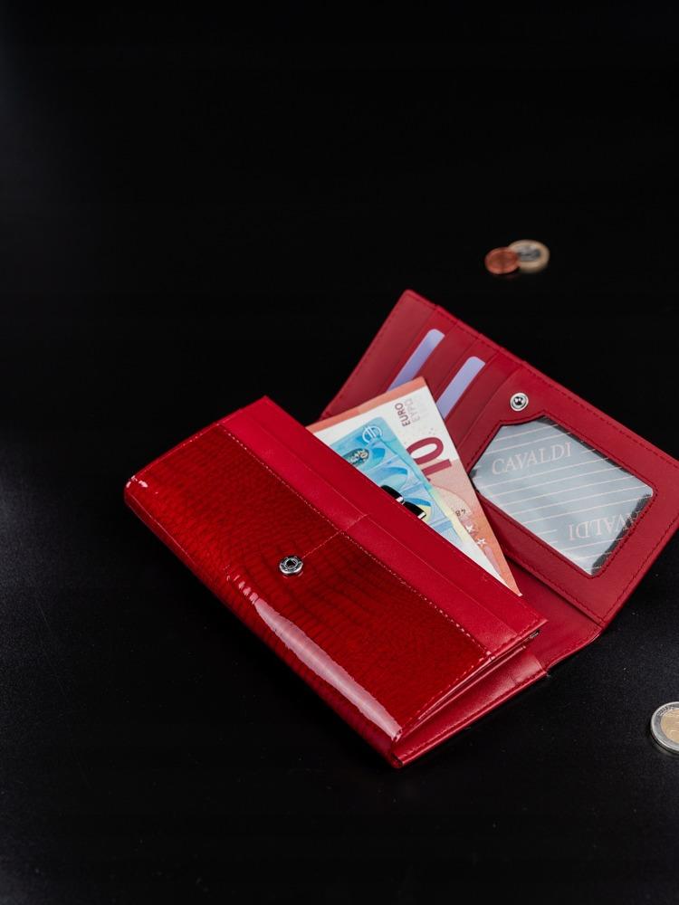 Luxusní kožená peněženka Bobine červená