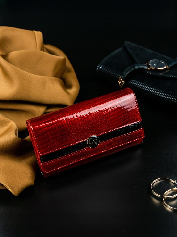 Dámská kožená peněženka Bona červená