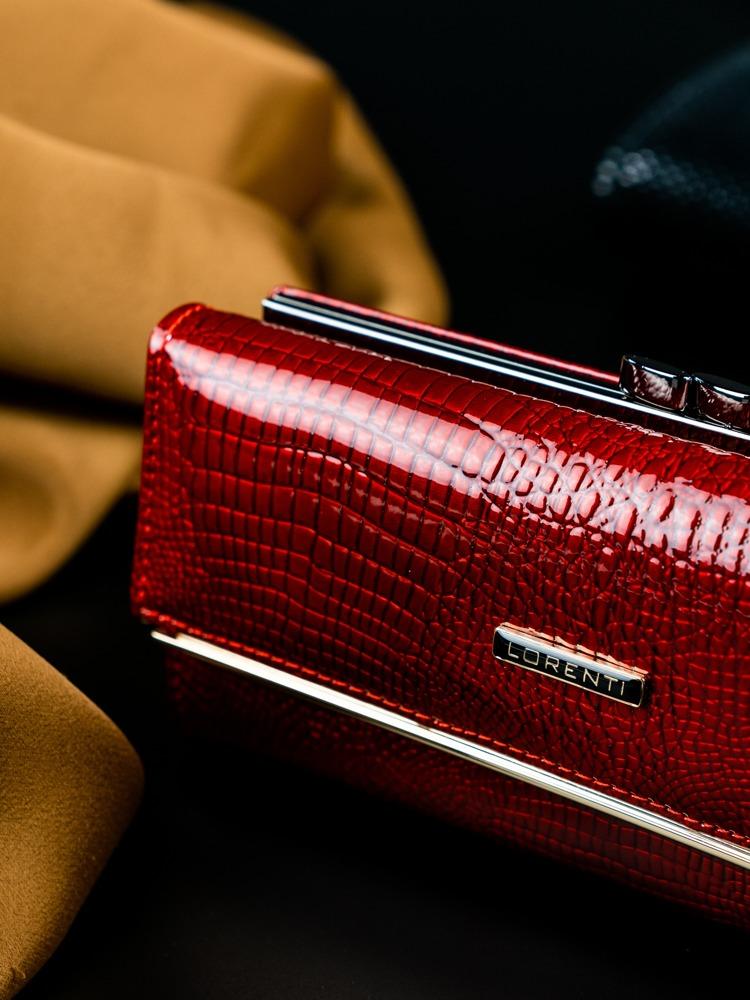 Lakovaná kožená dámská peněženka Anji červená