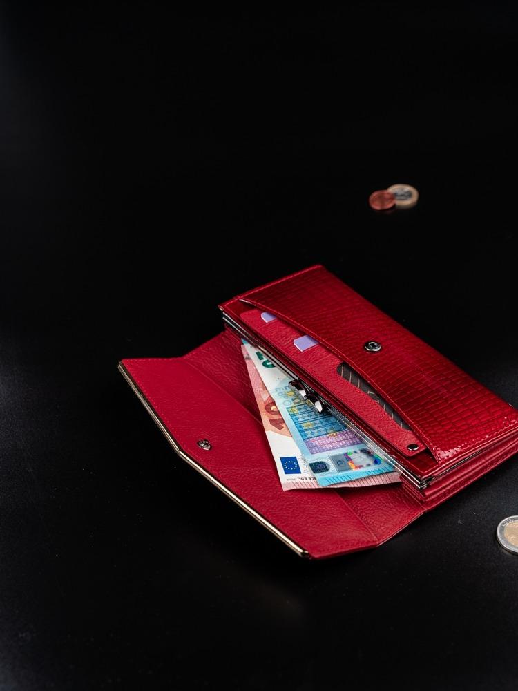 Dámská luxusní peněženka z kůže Amanta červená