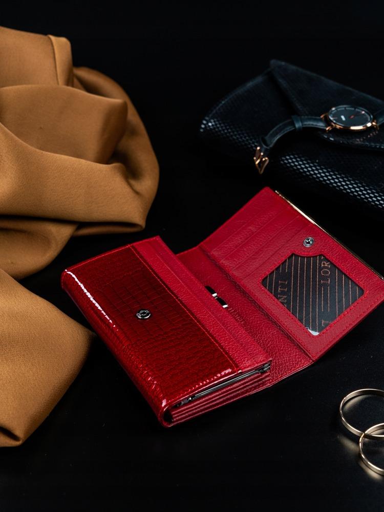 Dámská luxusní peněženka z přírodní kůže Agnola červená
