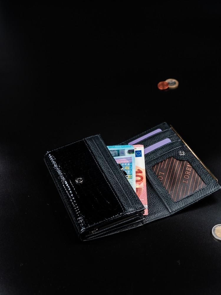 Dámská luxusní peněženka z přírodní kůže Agnola černá