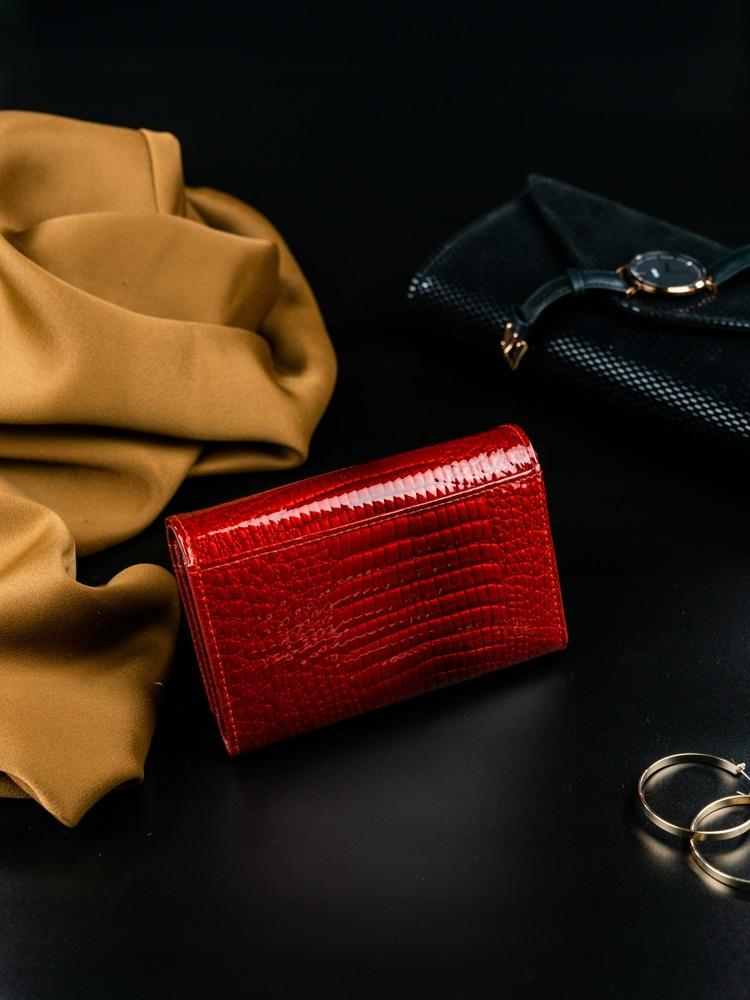 Luxusní dámská peněženka z přírodní kůže Giulia červená