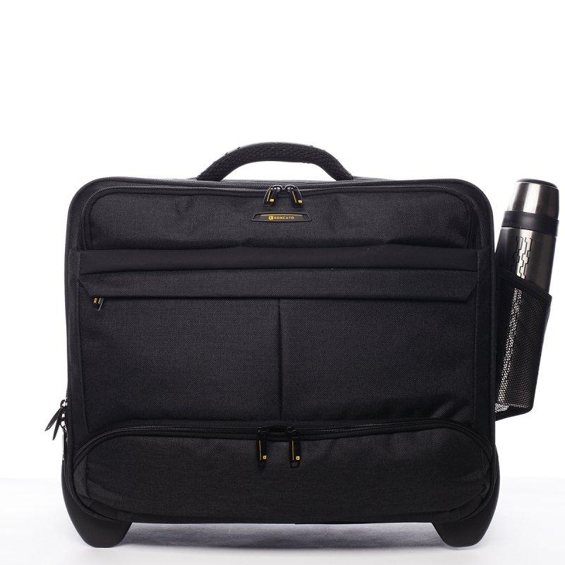Palubní příruční kufr Guillermo Roncato černý