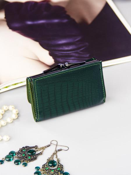 Malá praktická kožená peněženka Fren, zelená